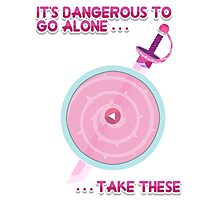 Steven Universe: It's Dangerous To Go Alone Photographic Print