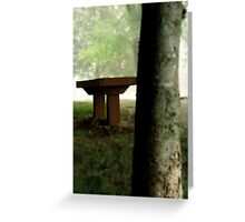 Nothing But a Bench Greeting Card
