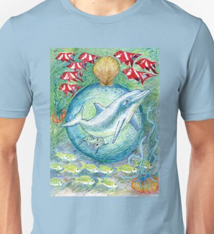 Mother dolphin  Unisex T-Shirt