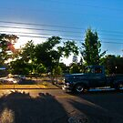 Blue Vintage Truck at Dusk by carls121