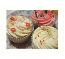Pretty pink cupcakes Art Print