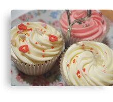 Pretty pink cupcakes Metal Print