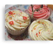 Pretty pink cupcakes Canvas Print