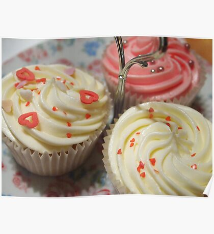 Pretty pink cupcakes Poster