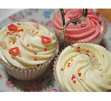 Pretty pink cupcakes Photographic Print