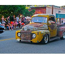 Beater truck goes cruising Photographic Print