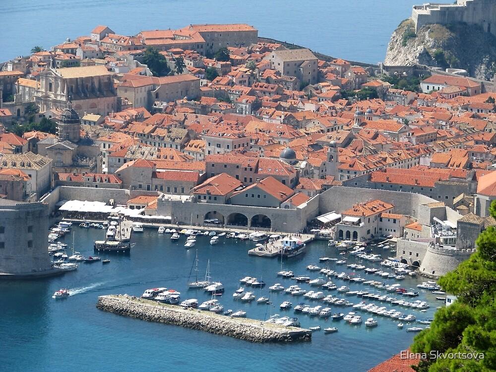 Dubrovnik Harbour by Elena Skvortsova