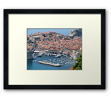 Dubrovnik Harbour Framed Print