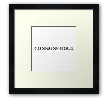 Emergency Number From IT Crowd Framed Print