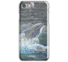 Dolphin Leap for the Moon iPhone Case/Skin
