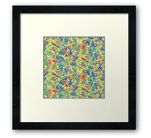 Colourful plants, rainbow Framed Print