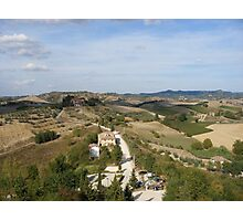 Tuscan view Photographic Print