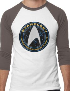 Star Trek - Starfleet / UFP Logo Screen (Screen Accurate!) Men's Baseball ¾ T-Shirt