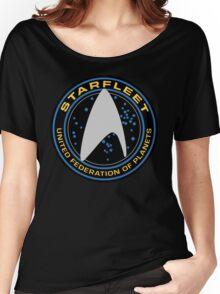 Star Trek - Starfleet / UFP Logo Screen (Screen Accurate!) Women's Relaxed Fit T-Shirt
