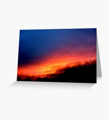 Sequential Sunset Greeting Card