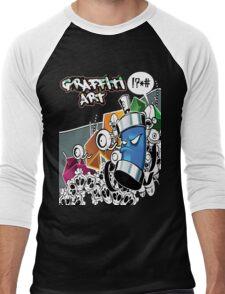 Graffiti Art Men's Baseball ¾ T-Shirt