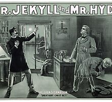 Rare Dr. Jekyll and Mr. Hyde Transformation Poster by Carsten Reisinger