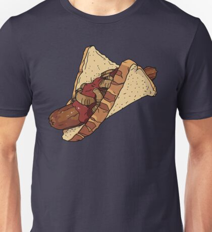 Snags: Snag with Onions and Sauce Unisex T-Shirt