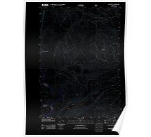 USGS Topo Map Oregon Fort Butte 20110808 TM Inverted Poster