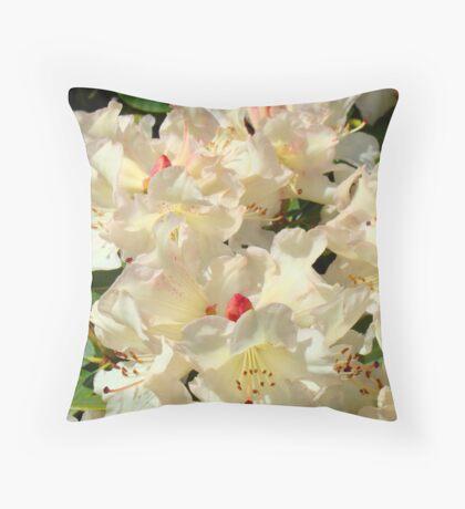 Rhododendrons Flowers Garden Yellow art prints Baslee Troutman Throw Pillow
