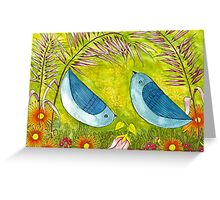 Courtship Under the Bower Greeting Card