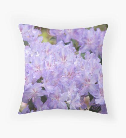 Rhododendron Flowers Purple Lavender Rhodies art Throw Pillow