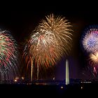 Fireworks over Washington DC by bettywiley