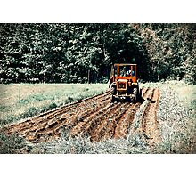 Field. Tractor. Let There Be Potatoes!! Photographic Print
