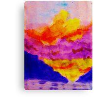 Vibrant sky line , watercolor Canvas Print