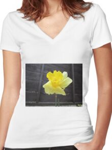 Daffodil Women's Fitted V-Neck T-Shirt