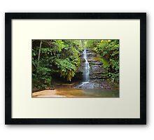 Leura waterfall - Leura Framed Print