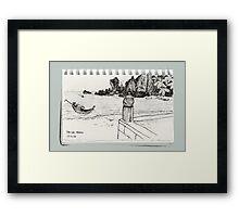 A Thai Beach Scene Framed Print