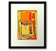 The open blind, St. Kilda ... Framed Print