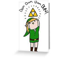 Link Legend of zelda Chibi Greeting Card