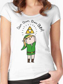 Link Legend of zelda Chibi Women's Fitted Scoop T-Shirt