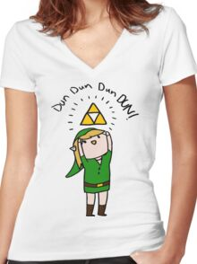 Link Legend of zelda Chibi Women's Fitted V-Neck T-Shirt