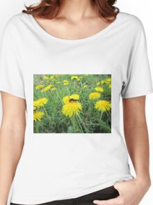 Bee on dandelion Women's Relaxed Fit T-Shirt