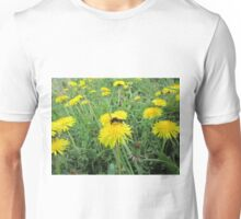 Bee on dandelion Unisex T-Shirt
