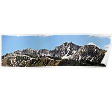 Mountain Peaks Above Solitude Ski Resort, Utah Poster