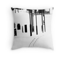 White V. Throw Pillow