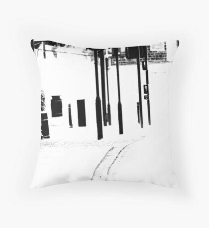 White V. Throw Pillow
