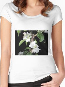 Apple blossom at night (5) Women's Fitted Scoop T-Shirt