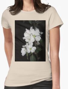 Apple blossom at night (4) Womens Fitted T-Shirt