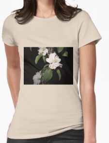 Apple blossom at night (3) Womens Fitted T-Shirt