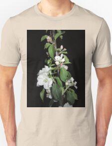 Apple blossom at night Unisex T-Shirt
