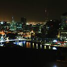 Melbourne At Night by Bevlea Ross