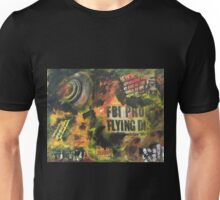 Fire is everywhere when a UFO crashes on planet earth and people gets hypnotized Unisex T-Shirt
