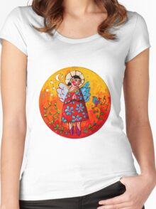 Contented Women's Fitted Scoop T-Shirt