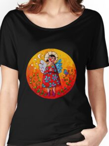 Contented Women's Relaxed Fit T-Shirt