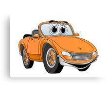 Convertible Orange Sports Car Canvas Print
